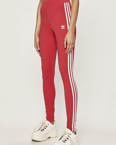 Różowe legginsy bawełniane Adidas Originals