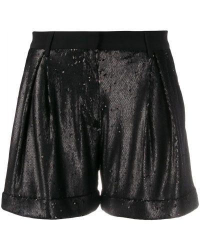 Однобортные черные шорты с карманами L'autre Chose