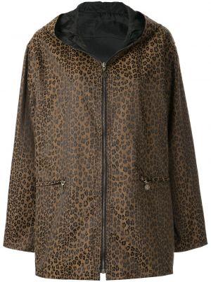 Коричневая короткая куртка с капюшоном на молнии Fendi Pre-owned