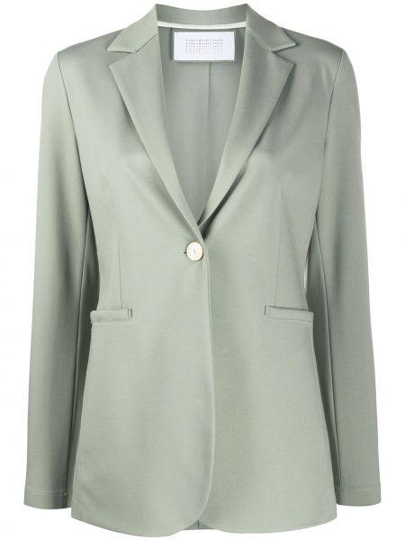 С рукавами зеленый удлиненный пиджак на пуговицах с воротником Harris Wharf London