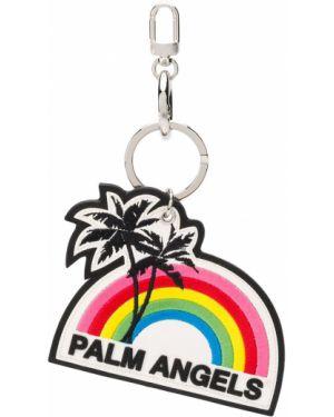 Brelok z logo biały Palm Angels