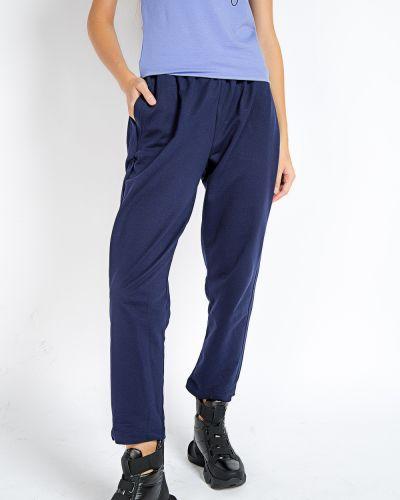 Брендовые хлопковые синие спортивные брюки Samo