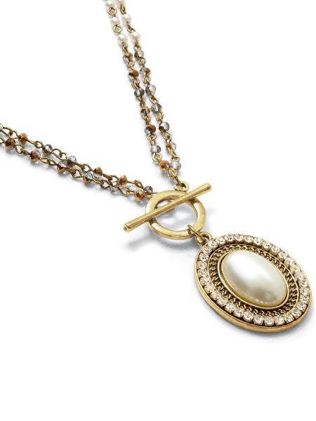 Ожерелье золотое со вставками Honey