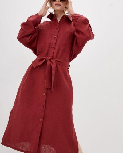 Бордовое платье Gabriela