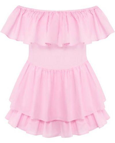 Шелковое платье мини - розовое Natayakim