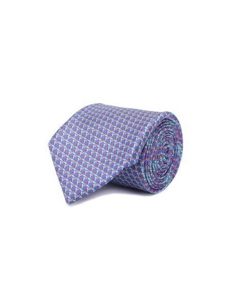 Галстук фиолетовый набор Zilli