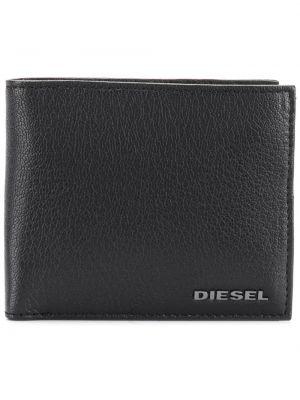Черный кошелек с карманами из овчины Diesel