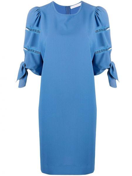 Платье синее шифт See By Chloe