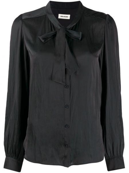 С рукавами черная блузка с воротником Zadig&voltaire