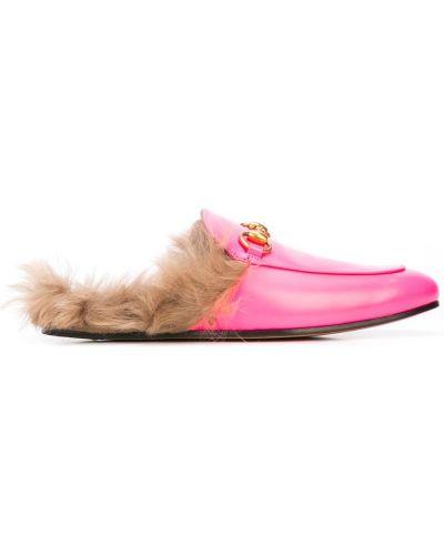 Лоферы розовый Gucci