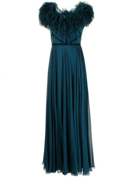 Вечернее платье длинное - синее Elie Saab