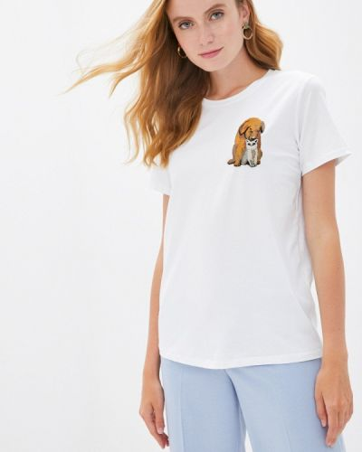 Белая футболка с короткими рукавами Akhmadullina Dreams
