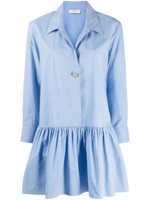 С рукавами синее платье-рубашка с воротником Sandro Paris