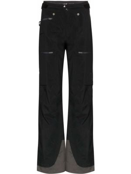 Черные прямые брюки на кнопках с манжетами с карманами Norrona