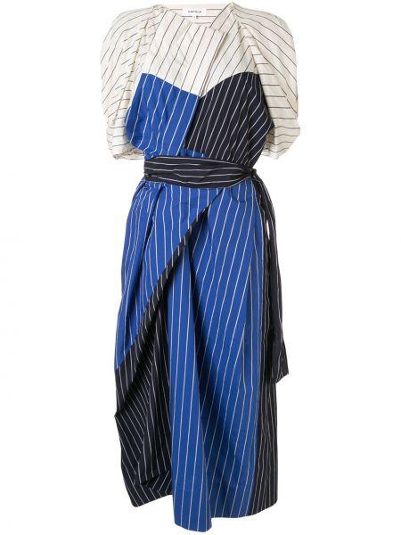 Sukienka mini w pasy koszulowa Enfold