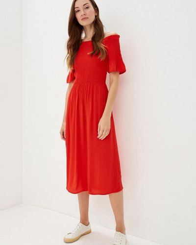 Красное платье с открытыми плечами Dorothy Perkins