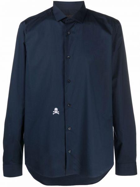 Niebieska koszula zapinane na guziki Philipp Plein