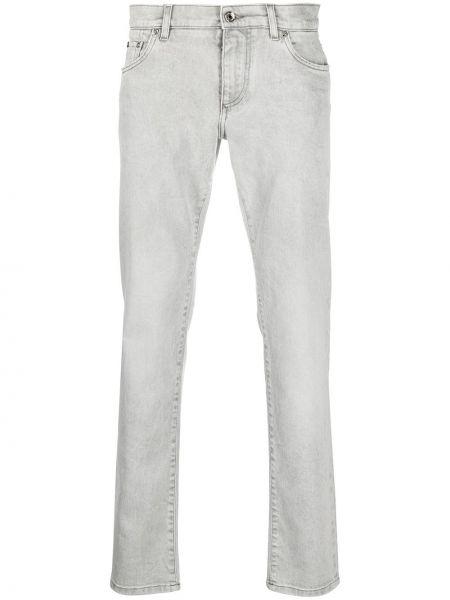 Bawełna bawełna światło klasyczny jeansy z łatami Dolce And Gabbana