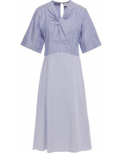 Платье с разрезом - синее Carven