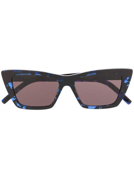 Прямые черные солнцезащитные очки квадратные с завязками Saint Laurent Eyewear