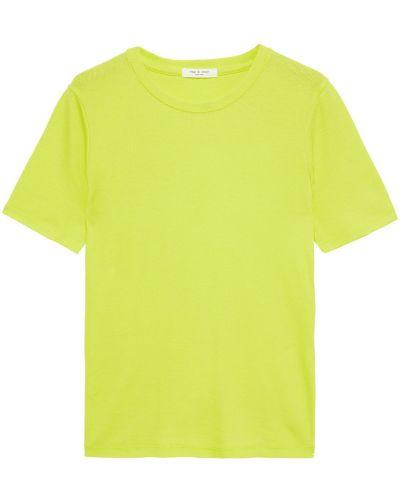 Prążkowany zielony top bawełniany Rag & Bone