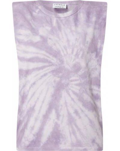 Fioletowa koszulka bawełniana Catwalk Junkie