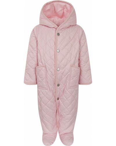 Утепленный розовый комбинезон Ralph Lauren