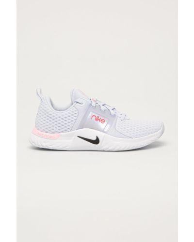 Niebieskie sneakersy sznurowane Nike