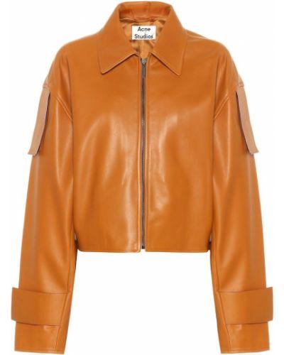 Кожаная куртка укороченная Acne Studios