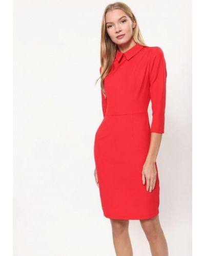 Платье осеннее красный Tutto Bene