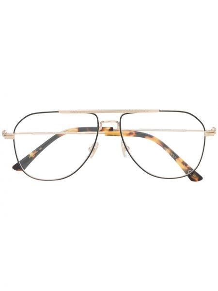Золотистые желтые очки авиаторы Jimmy Choo Eyewear