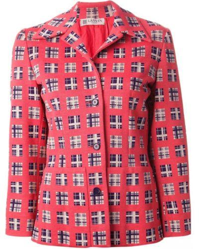 Желтый удлиненный пиджак на пуговицах винтажный Lanvin Pre-owned