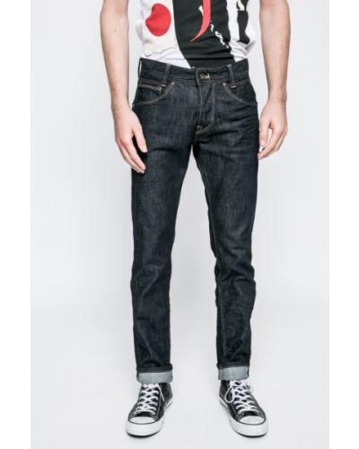 Прямые джинсы на пуговицах с нашивками Pepe Jeans