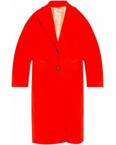 Czerwony płaszcz zapinane na guziki Golden Goose