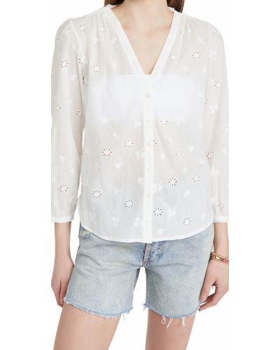 Bluzka z haftem - biała Birds Of Paradis
