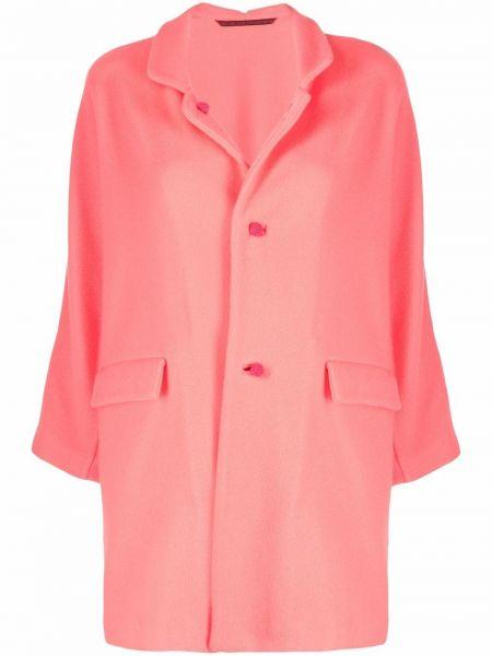 Розовое пальто с воротником Daniela Gregis
