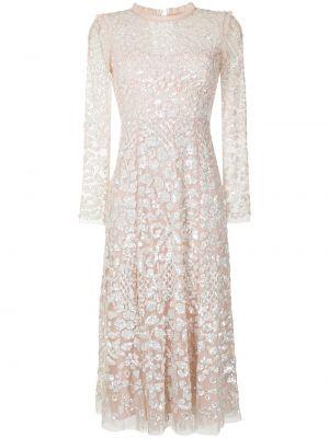 Платье миди расклешенное - белое Needle & Thread