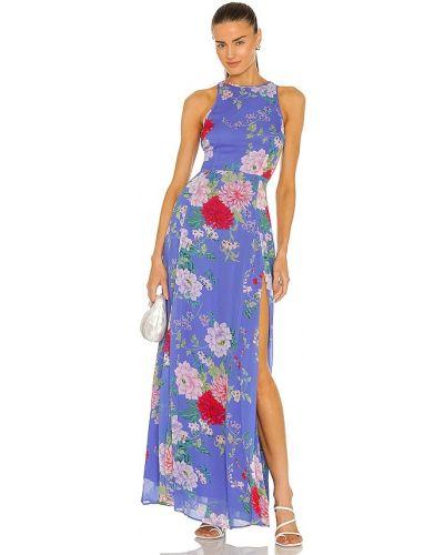 Платье макси из вискозы на молнии винтажное Yumi Kim
