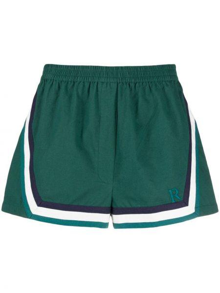 Зеленые хлопковые шорты в полоску Roseanna