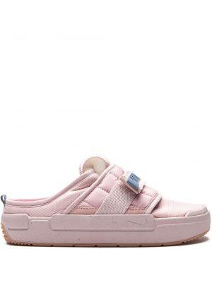 Розовые кроссовки с открытой пяткой Nike