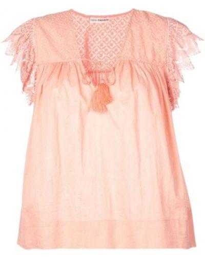 Różowy top z haftem Ulla Johnson