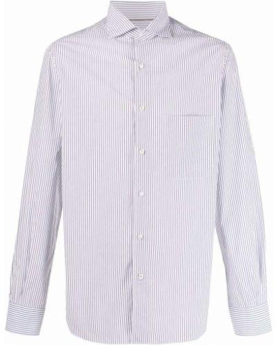Biała klasyczna biała koszula Loro Piana