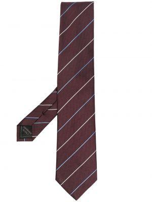 Красный галстук в полоску Brioni
