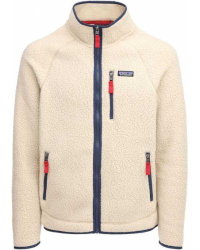 Куртка хаки на молнии с карманами Patagonia