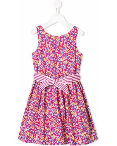 Платье с рукавами на молнии розовый Ralph Lauren Kids