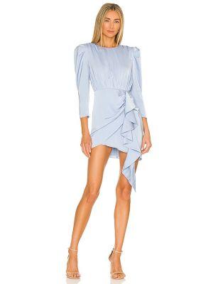 Платье с запахом - синее Nbd