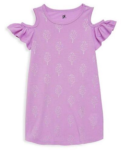 Fioletowa koszula nocna bawełniana Petit Lem