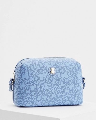 Голубая кожаный сумка Tous