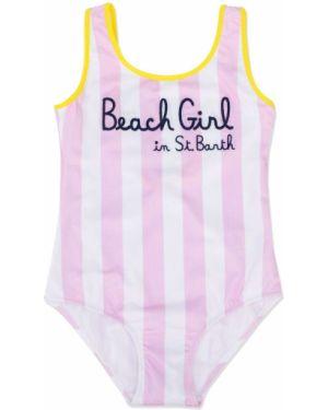 Розовый пляжный купальник с шортами с открытой спиной Mc2 Saint Barth