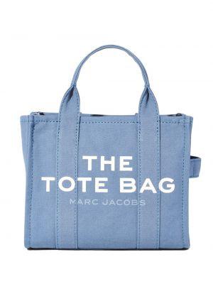Niebieski z paskiem torba toaletowa okrągły Marc Jacobs